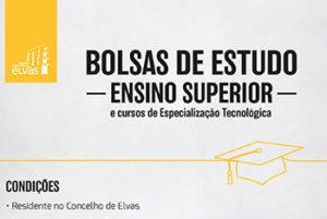 Candidaturas abertas para bolsas de estudo do ensino superior