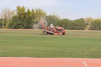 Relvado do Estádio Municipal de Atletismo foi intervencionado