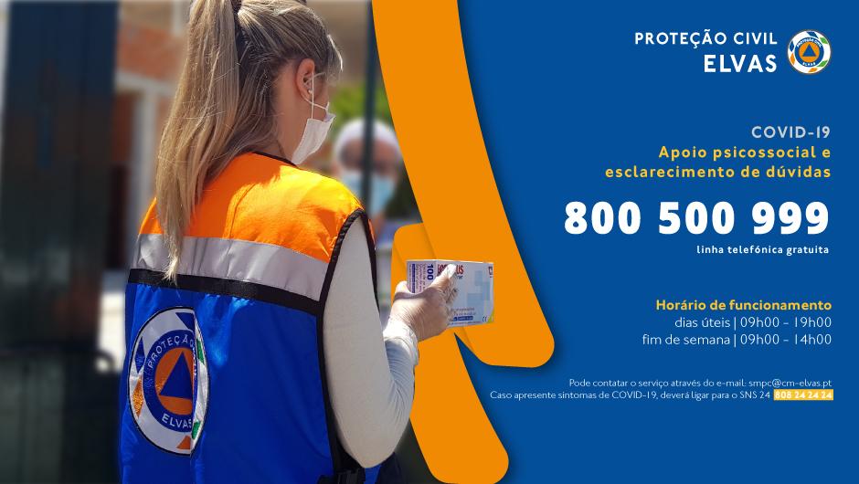 Proteção civil tem número de apoio à população