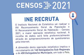 INE encontra-se a recrutar entrevistadores