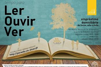 "Biblioteca promove ""Tempo para Ler, Ouvir, Ver"""