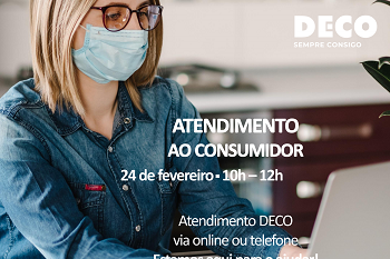 Atendimento da DECO é dia 24, online ou pelo telefone