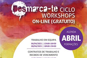 "Workshops ""Desmarca-te"" para o mês de abril"